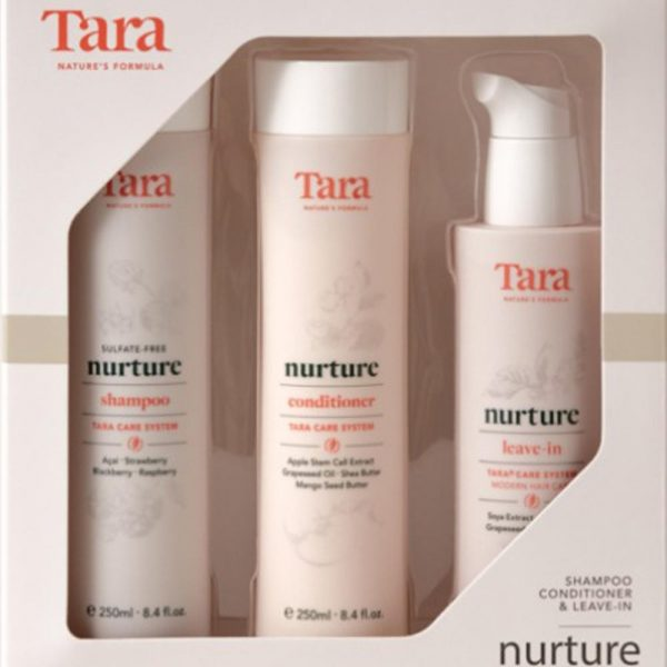 Tara Nurture Shampoo, Conditioner and Leave-in