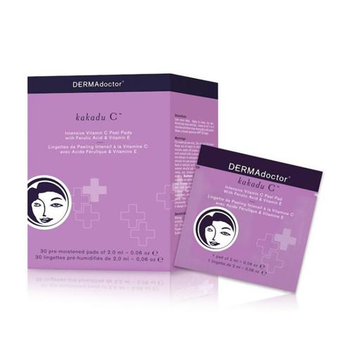 DermaDoctor Kakadu C Intensive Vitamin C Peel Pad with Ferulic Acid & Vitamin E - 30Sachets