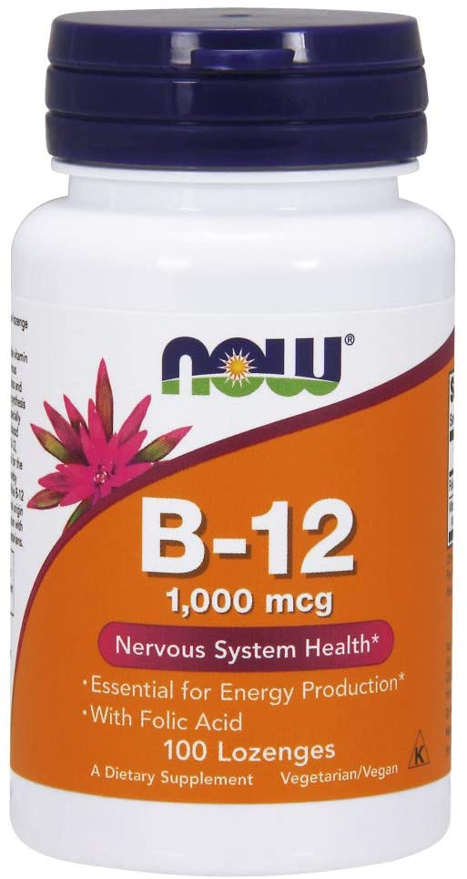 Now Vitamin B-12 1000mcg Supports Nervous System, 100 Lozenges