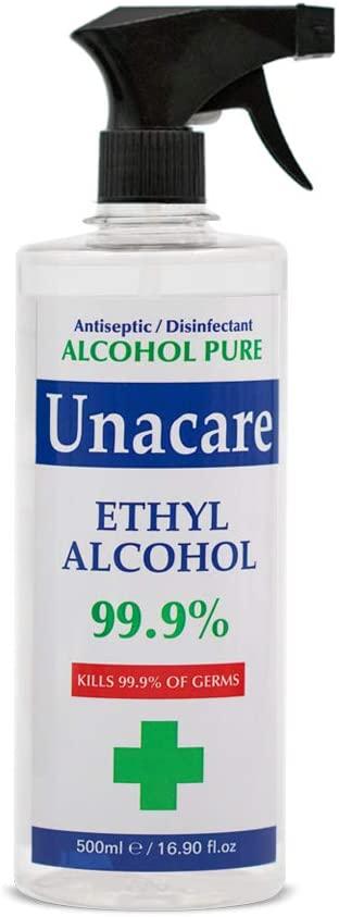 Unacare Ethyl Alcohol 99.9% Pump, 500 ml